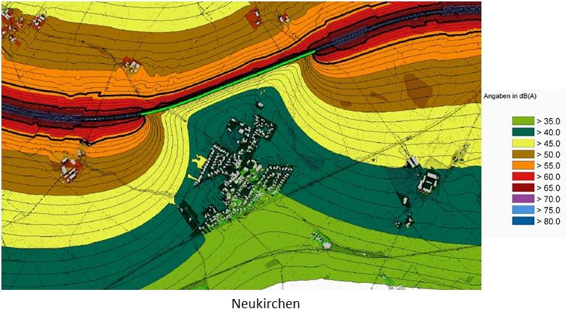 Neukirchen - Lärmpegel laut DB Angaben