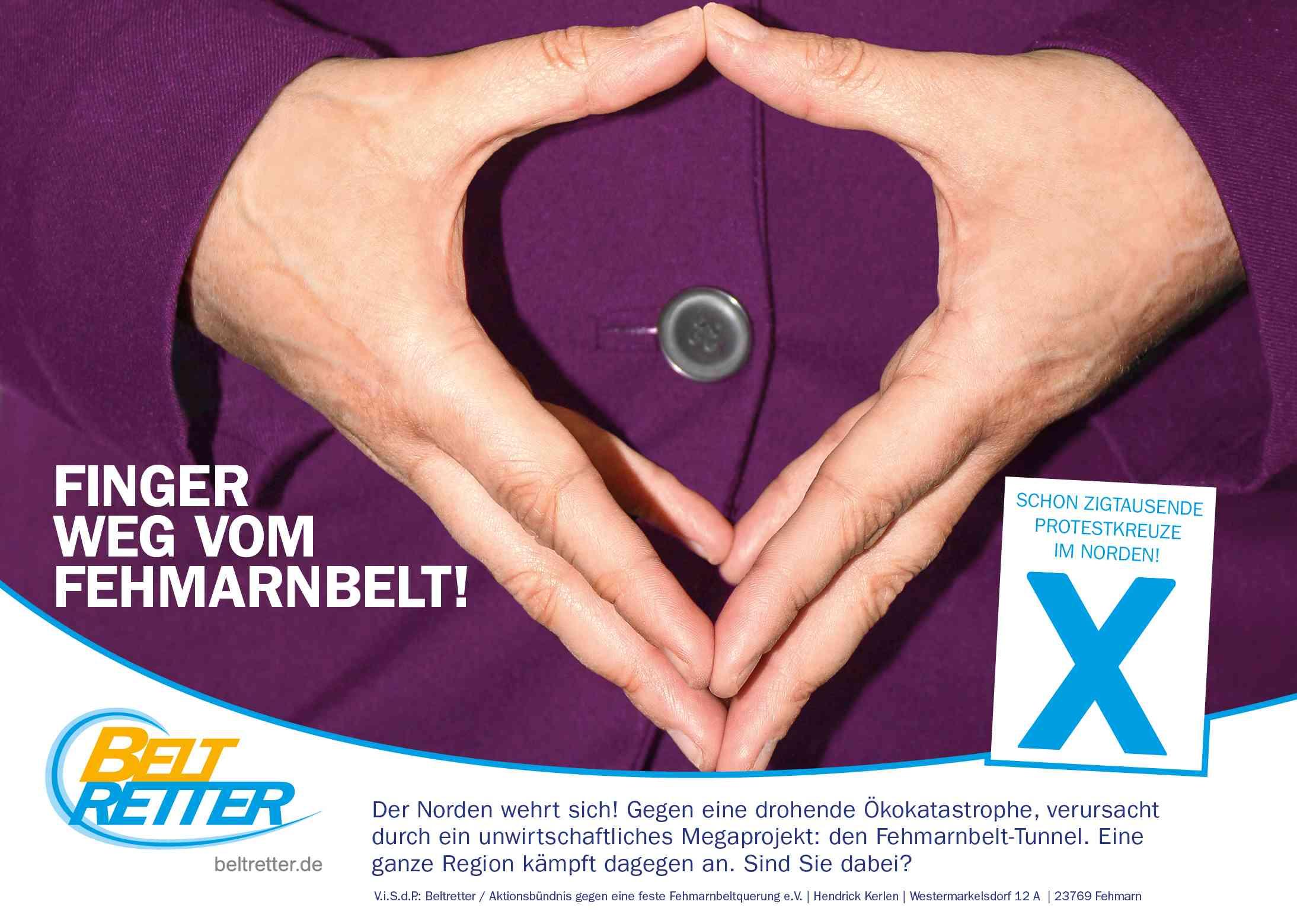 Die BELTRETTER schalten eine halbseitige Anzeige im Berliner Tagesspiegel – unmittelbar am Sitz der Bundesregierung