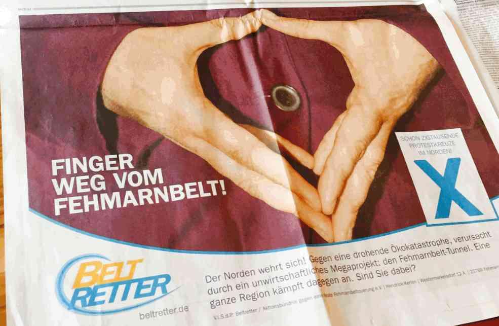 Präsent in Berlin: Halbseitige Anzeige der BELTRETTER im Tagesspiegel